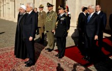 President Rouhani received by Italian President
