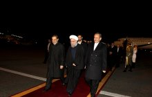 President Rouhani arrives in Tehran from his European tour
