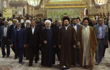 President appears in Imam Khomeini (RA) tomb