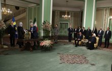 Joint press conference and signing of 5 cooperation documents between Iran and Sweden