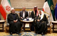President Rouhani and Emir of Kuwait meet at Kuwait Emir's palace