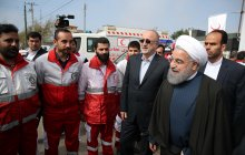 President visits Red Crescent relief base; appreciates aid workers