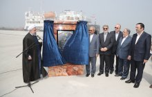 President opens Caspian Port Complex/Marina Pier, Iran's biggest aquarium start construction