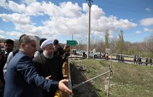 Visiting flood-hit areas in East Azerbaijan province