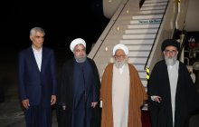 President Rouhani enters Shiraz
