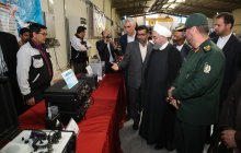 President visits Shiraz Electronic Industries Organisation exhibition