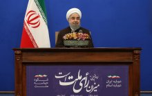 Dr Rouhani in a televised message addressing Iranian nation