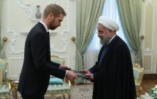 Receiving credentials of the new Norwegian Ambassador to Tehran