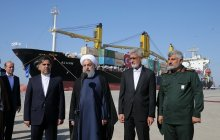 Inaugurating Phase 1 of Shahid Beheshti Port Development Plan in Chabahar