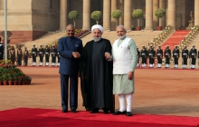Official welcoming ceremony by the President and Prime Minister of India