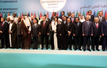 Posing for photo at OIC summit