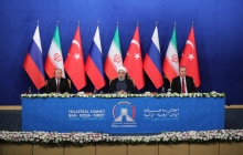 Press conference after tripartite summit of Iran, Russia and Turkey