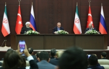 Joint press conference of Iranian, Russian and Turkish Presidents